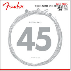 Fender 7250 Bass Strings - Long, Nickel-Plated Steel Roundwound, 45-100