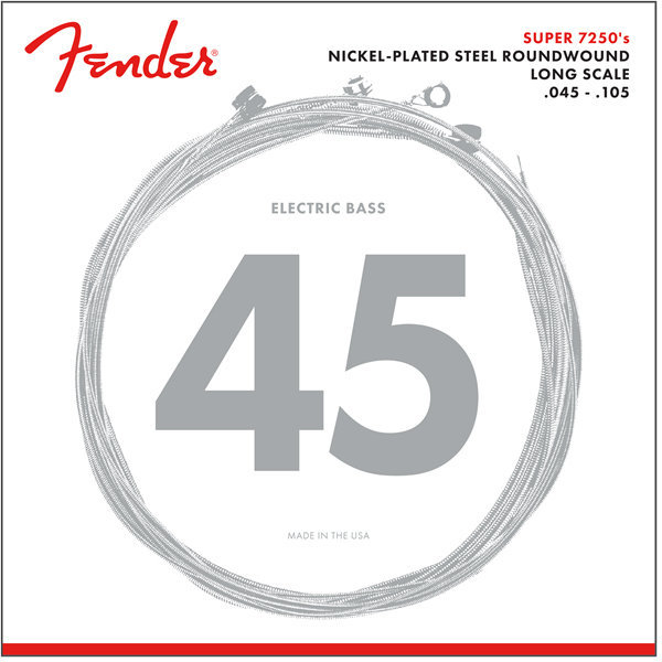 View larger image of Fender 7250 Bass Strings - Long, Nickel-Plated Steel Roundwound, 45-105