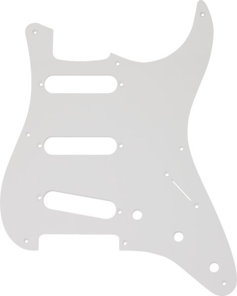 View larger image of Fender 8-Hole Mount SSS Stratocaster Pickguard - 1 Ply, White