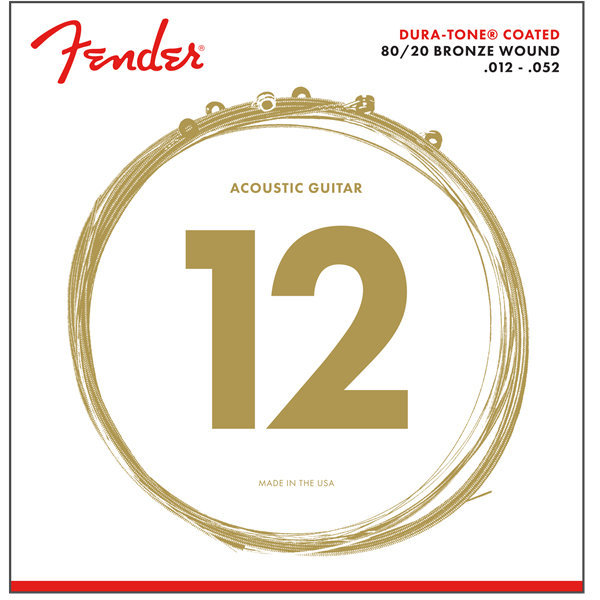 View larger image of Fender 80/20 Dura-Tone Coated Acoustic Guitar Strings - Bronze Wound, 12-52