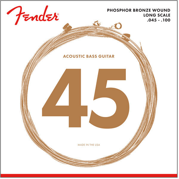 View larger image of Fender 8060 Phosphor Bronze Acoustic Bass Strings - Long, 45-100