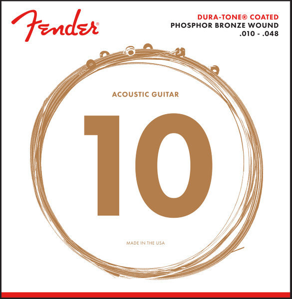 View larger image of Fender 860XL Dura-Tone Coated Acoustic Guitar Strings - Phosphor Bronze Wound, 10-48