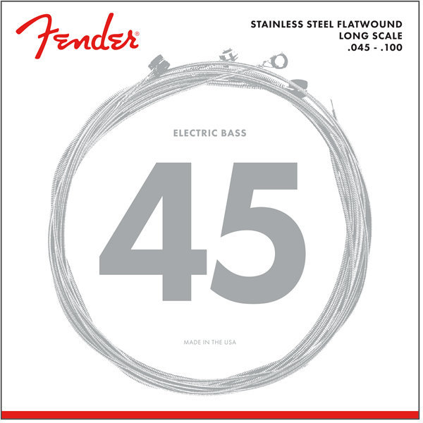 View larger image of Fender 9050 Stainless Flatwound Bass Strings - Long, 45-100