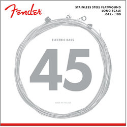 Fender 9050 Stainless Flatwound Bass Strings - Long, 45-100