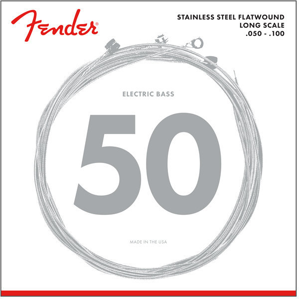 View larger image of Fender 9050 Stainless Flatwound Bass Strings - Long, 50-100