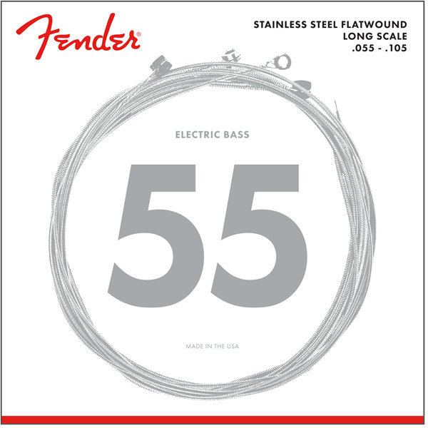 View larger image of Fender 9050 Stainless Flatwound Bass Strings - Long, 55-105