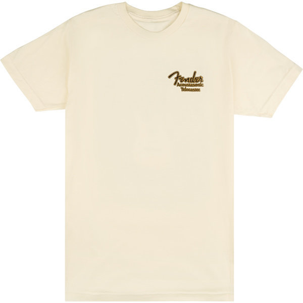 View larger image of Fender Acoustasonic Telecaster T-Shirt - Cream, Small