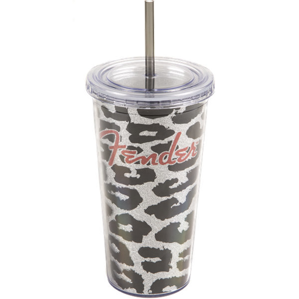 View larger image of Fender Acrylic Leopard Glitter Tumbler - 20oz