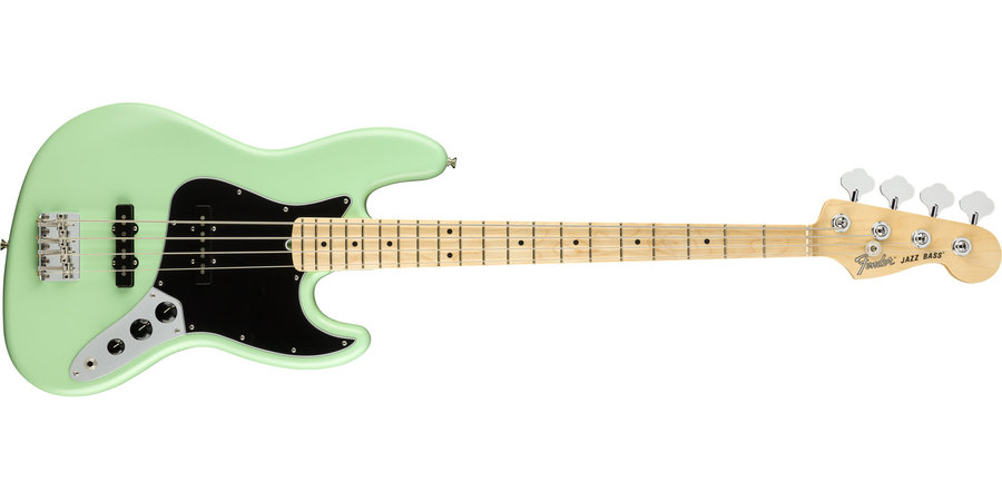 View larger image of Fender American Performer Jazz Bass - Maple, Satin Surf Green