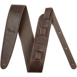 """Fender Artisan Crafted Leather Guitar Strap - 2-1/2"""", Brown"""