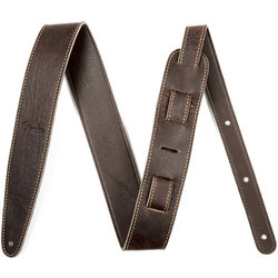 """Fender Artisan Crafted Leather Guitar Strap - 2"""", Brown"""