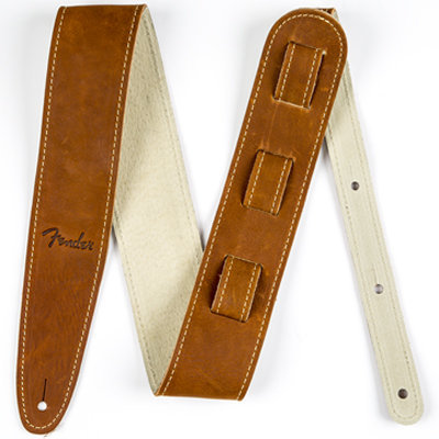 View larger image of Fender Ball Glove Leather Guitar Strap - Brown