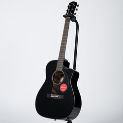 Fender CC-60SCE Concert Acoustic-Electric Guitar - Walnut, Black