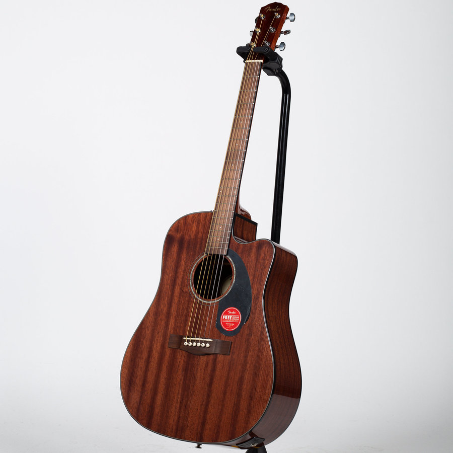 View larger image of Fender CD-60SCE Dreadnought Acoustic-Electric Guitar - Walnut, All-Mahogany
