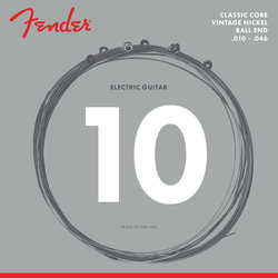 Fender Classic Core Electric Guitar Strings - Ball End, Vintage Nickel, 10-46