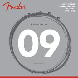 Fender Classic Core Electric Guitar Strings - Ball End, Vintage Nickel, 9-42