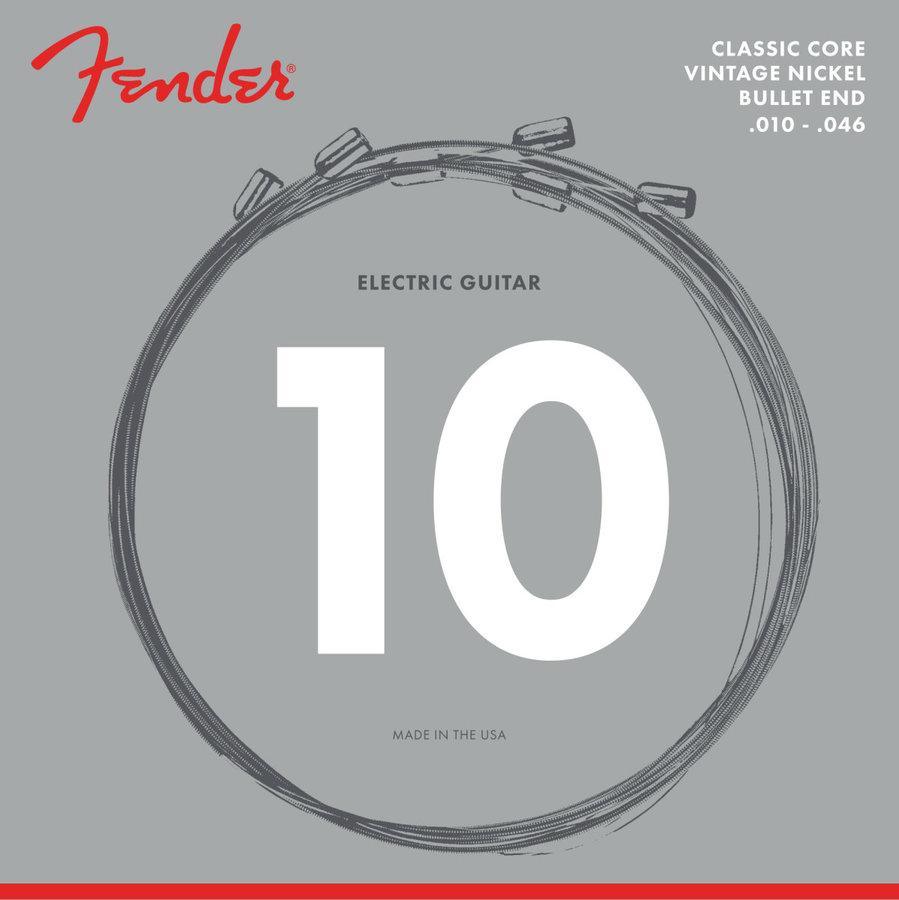 View larger image of Fender Classic Core Electric Guitar Strings - Bullet End, Vintage Nickel, 10-46