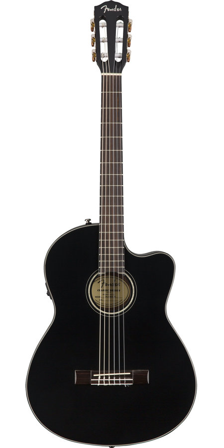 View larger image of Fender CN-140SCE Classical-Electric Guitar - Black