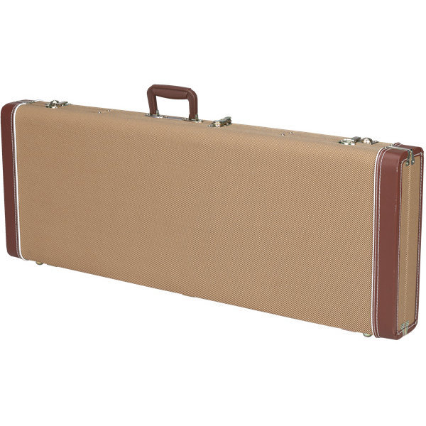 View larger image of Fender Deluxe Jazz Bass Hardshell Case - Tweed with Red Poodle Plush Interior