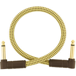 Fender Deluxe Series Instrument Cable - Angle / Angle, 1', Tweed