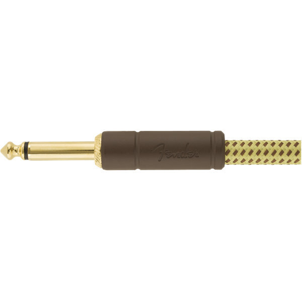 View larger image of Fender Deluxe Series Instrument Cable - Straight / Angle, 25', Tweed