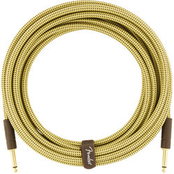Fender Deluxe Series Instrument Cable - Straight / Straight, 10', Tweed