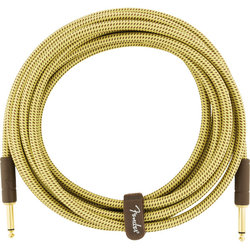 Fender Deluxe Series Instrument Cable - Straight / Straight, 15', Tweed