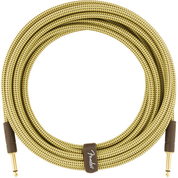 View larger image of Fender Deluxe Series Instrument Cable - Straight / Straight, 18.6', Tweed