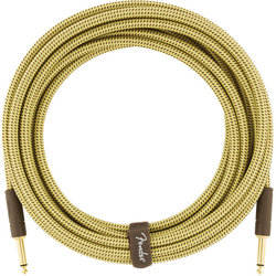 Fender Deluxe Series Instrument Cable - Straight / Straight, 18.6', Tweed