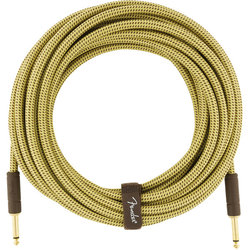 Fender Deluxe Series Instrument Cable - Straight / Straight, 25', Tweed
