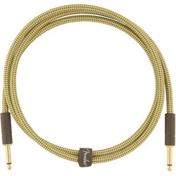 Fender Deluxe Series Instrument Cable - Straight / Straight, 5', Tweed