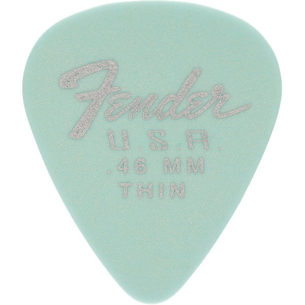View larger image of Fender Dura-Tone Delrin Picks - .46 mm, Thin, 351 Shape, Daphne Blue, 12 Pack