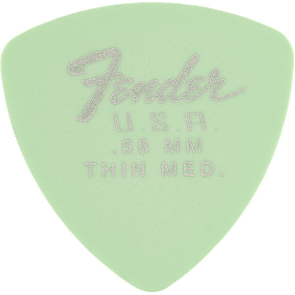 View larger image of Fender Dura-Tone Delrin Picks - .58 mm, Thin Medium, 346 Shape, Surf Green, 12 Pack