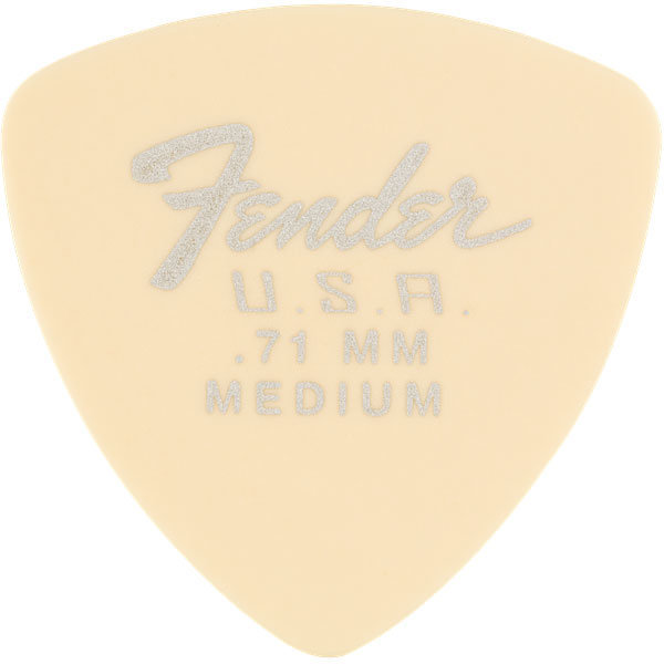 View larger image of Fender Dura-Tone Delrin Picks - .71 mm, Medium, 346 Shape, Olympic White, 12 Pack