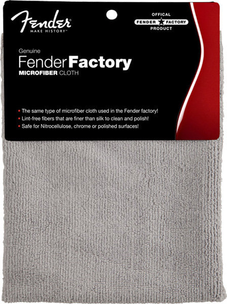 View larger image of Fender Factory Microfiber Cloth - Gray