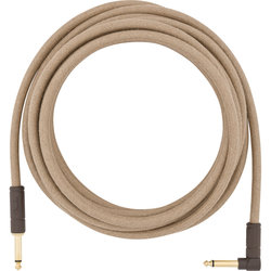 Fender Festival Hemp Instrument Cable - Straight / Angled, 18.6', Natural