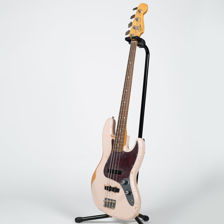 View larger image of Fender Flea Jazz Bass - Rosewood, Roadworn Shell Pink