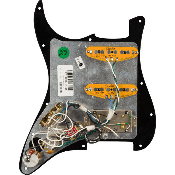 View larger image of Fender Gen 4 Noiseless HSS Pre-Wired Stratocaster Pickguard - Black