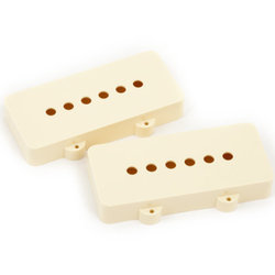 Fender Jazzmaster Pickup Covers - Aged White, Pair