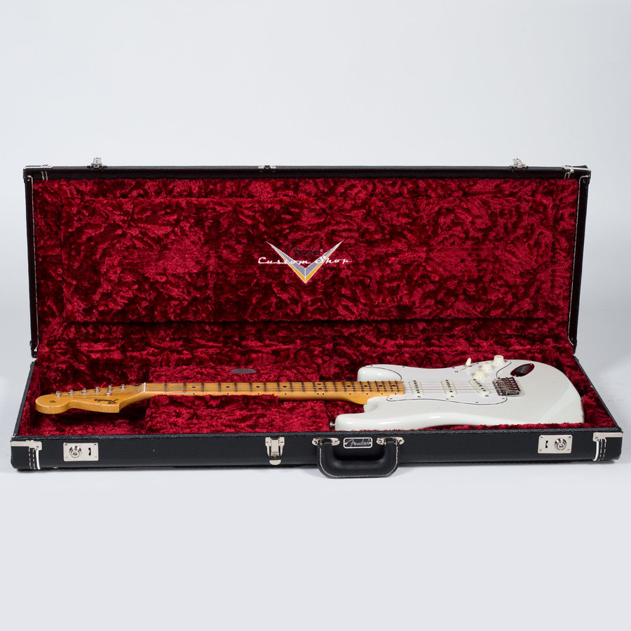 View larger image of Fender Jimi Hendrix Voodoo Child Signature Relic Stratocaster Journeyman - Maple, Olympic White
