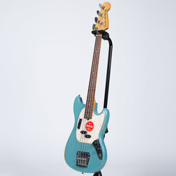 Fender Justin Meldal-Johnsen Signature Road Worn Mustang Bass - Rosewood, Faded Daphne Blue