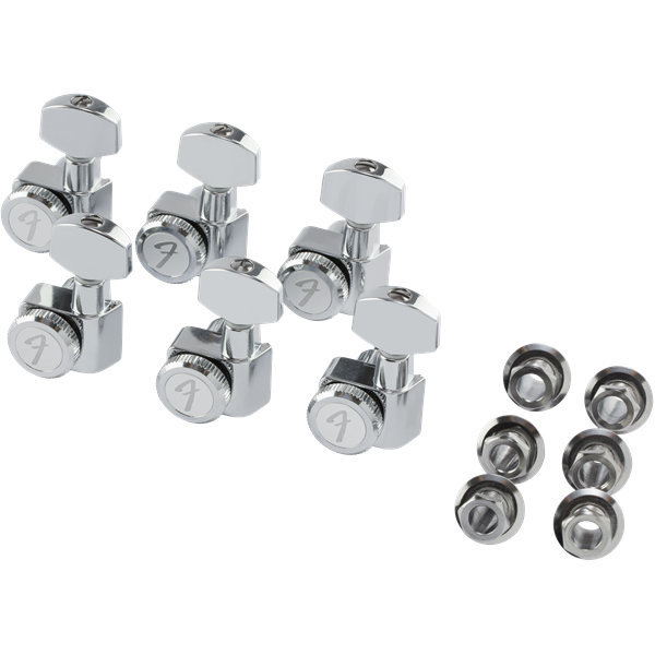 View larger image of Fender Locking Stratocaster/Telecaster Tuning Machines - Polished Chrome, Left