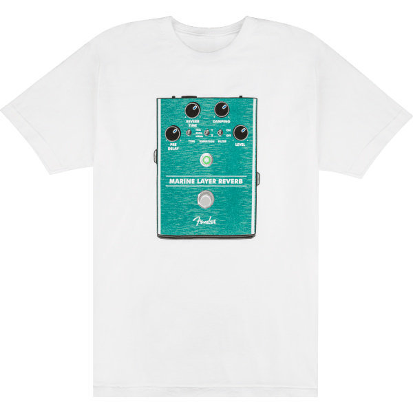 View larger image of Fender Marine Layer Reverb T-Shirt - White, Large