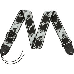 Fender Monogrammed Guitar Strap - Black/Light Grey/Dark Grey