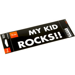 Fender My Kid Rocks Bumper Sticker