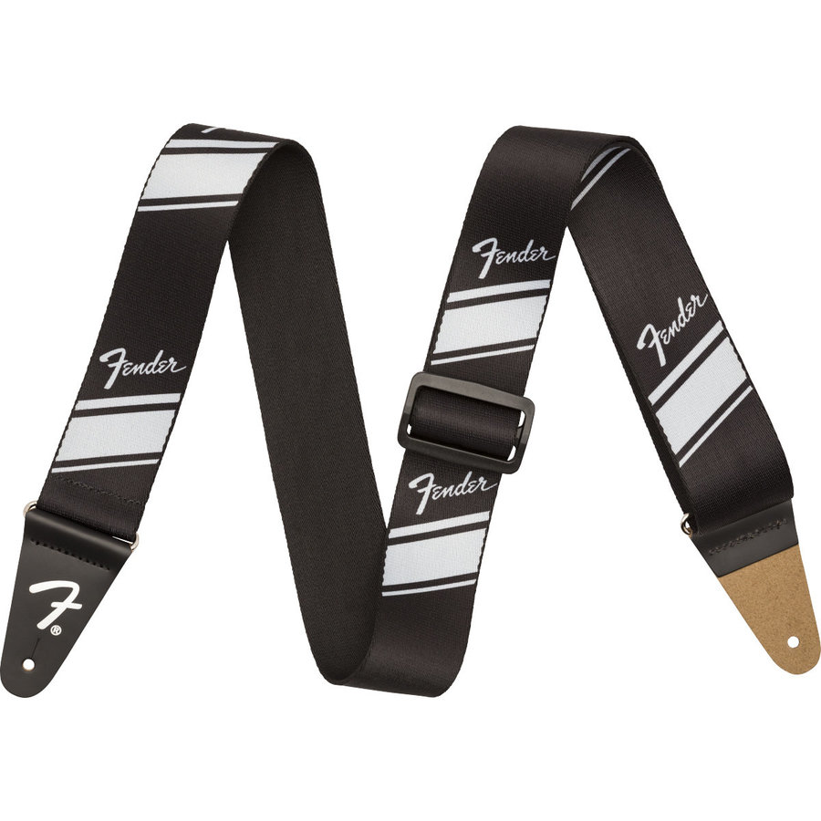 View larger image of Fender Nylon Competition Stripe Star Guitar Strap - Silver