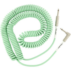 Fender Original Series Coil Cable - Straight / Angle, 30', Surf Green