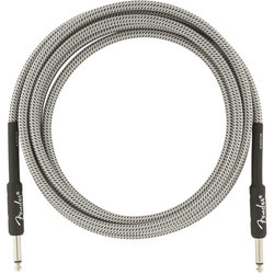 Fender Professional Series Instrument Cable - Straight / Straight, 10', White Tweed