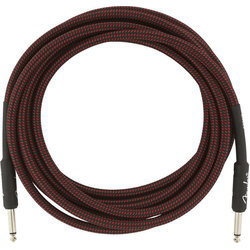 Fender Professional Series Instrument Cable - Straight / Straight, 15', Red Tweed