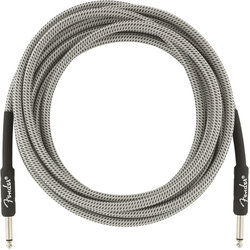 Fender Professional Series Instrument Cable - Straight / Straight, 15', White Tweed